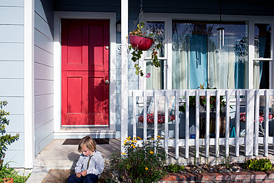 Rote Tür - p1308m1143930 von felice douglas