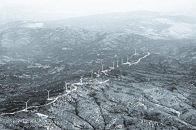 Wind park aerial view - p1170m1477248 by Bjanka Kadic