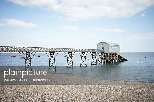 Pier with boat shed II - p464m854711 by Elektrons 08