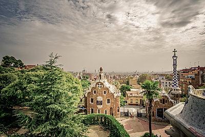 Spain, Barcelona, Güell Park - p1402m2219819 by Jerome Paressant