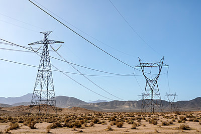 Mojave Desert Power Lines - p1489m1575394 by Paul Simcock