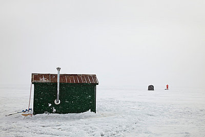 Ice fishing in Canada - p8360146 by Benjamin Rondel