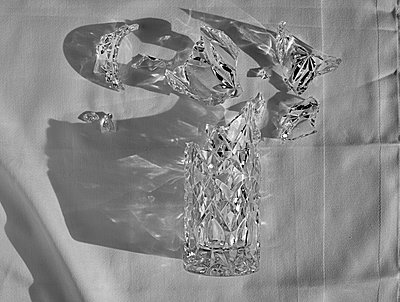 Broken crystal glass - p1366m2260564 by anne schubert
