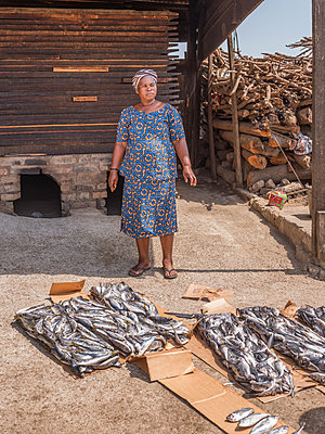 Mackerels are smoked - p390m1586496 by Frank Herfort