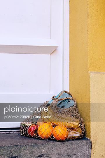 Einkaufsnetz - p989m2173926 von Gine Seitz