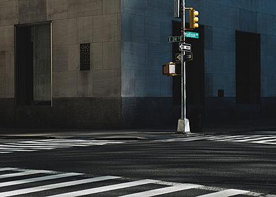 Traffic lights and zebra crossing, Madison Avenue, Manhattan, New York City, USA - p758m2183891 by L. Ajtay