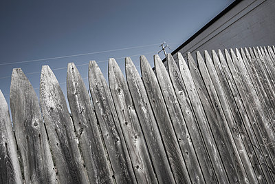 Wooden fence. - p1072m993288 by Peter Glass