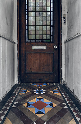 Entrance and door to empty house - p1280m2281179 by Dave Wall