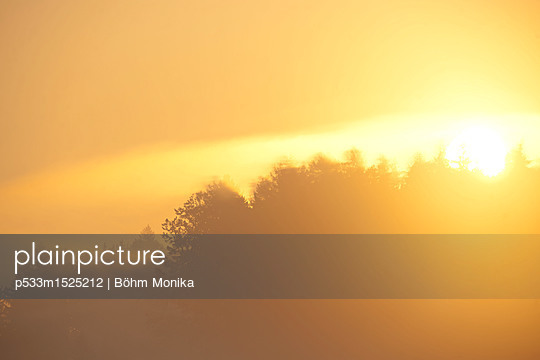 Sunrise in the morning mist - p533m1525212 by Böhm Monika