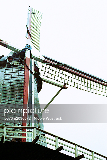 Old windmill - p378m2096872 by Nicole Wustrack