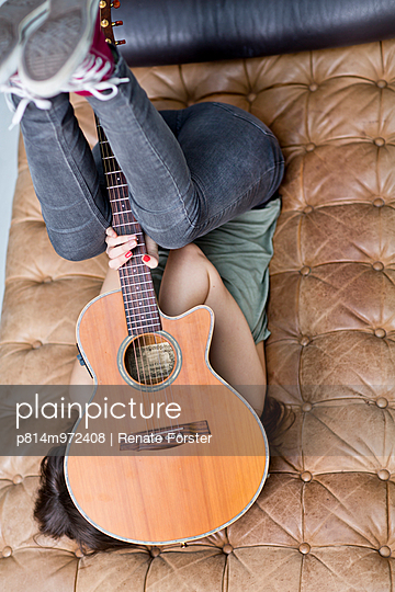 Guitar player - p814m972408 by Renate Forster