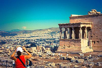 Erechtheion-Tempel auf der Akropolis - p1062m871818 von Viviana Falcomer
