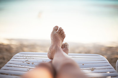 Laying on the beach in St.Thomas Island, U.S. Virgin Island,  - p579m2015575 by Yabo