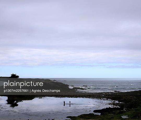 Blue Hour on the Coast - p1307m2257661 by Agnès Deschamps