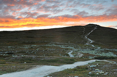 Sunset over a moore - p5755755 by Mikael Svensson