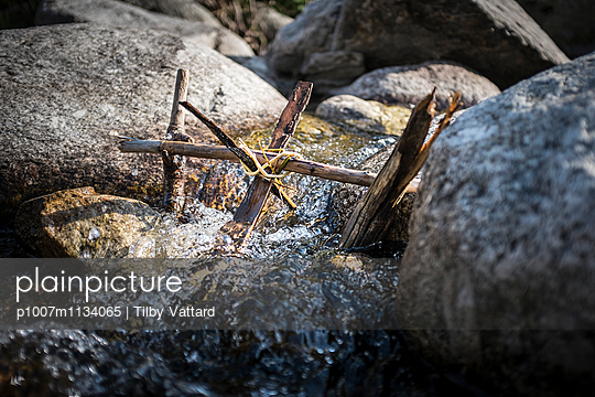Water-mill in a river  - p1007m1134065 by Tilby Vattard