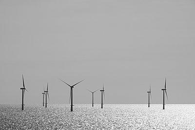 Belgium, West Flanders, Ostende, Zeebruegge, Thorntonbank Wind Farm - p300m975111f by Markus Keller