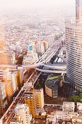 Blick auf Tokio von oben - p432m2116412 von mia takahara
