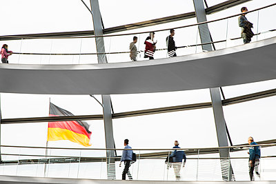 Detail of the Reichstag, German parliament building, Berlin, Germany - p1062m1172147 by Viviana Falcomer