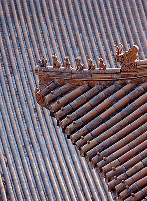 Figures On The Roof Of The Summer Palace - p644m727681 by Ian Cumming