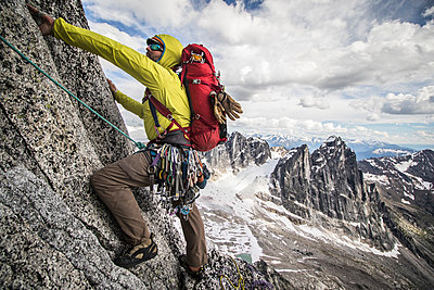 Alpine Climber - p343m1206403 by Suzanne Stroeer