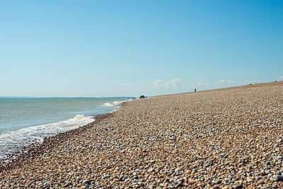 Dungeness shingle beach; Kent, England - p442m1085034f by Dosfotos