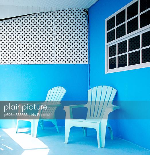 Blue Balcony - p606m885583 by Iris Friedrich