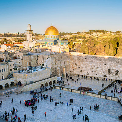 Jewish Quarter of the Western Wall Plaza, Old City, UNESCO World Heritage Site, Jerusalem, Israel, Middle East - p871m711362 by Gavin Hellier