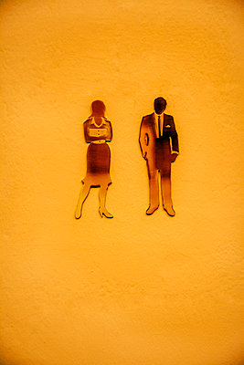 Plaque, Man and woman - p1248m2152473 by miguel sobreira
