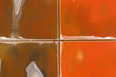 Aerial view of colorful salt lake - p1596m2192881 by Nikola Spasov