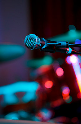 Microphone on a stage - p228m902400 by photocake.de