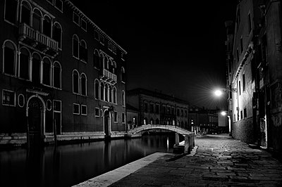 Night scene of a Venetian canal - p3314006 by Thomas Ortolan