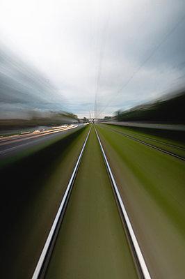Long exposure of railway tracks - p623m2151655 by Pablo Camacho