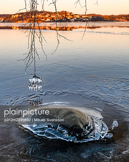 View of ice at lake - p312m2299692 by Mikael Svensson