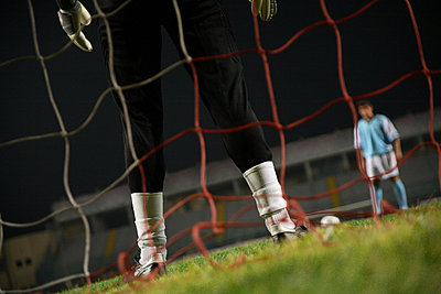 Low Angle View of a Penalty Kick - p3070715f by Score. by Aflo