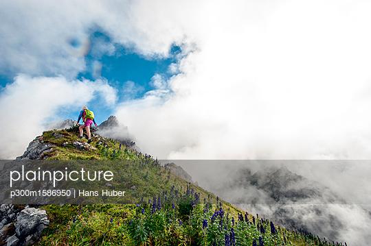 Austria, Salzburg State, Filzmoos, Female hiker - p300m1586950 von Hans Huber