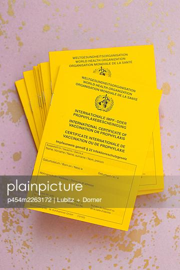 Pile of Vaccination certificates - p454m2263172 by Lubitz + Dorner
