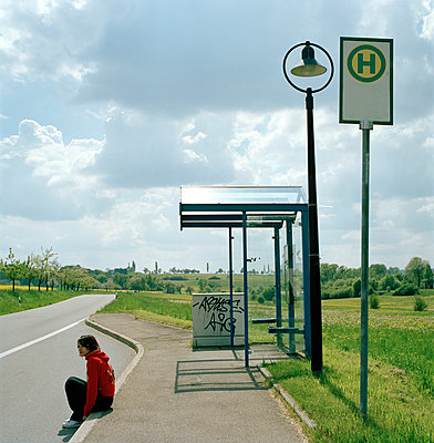 Bus stop - p1199m1050877 by Claudia Jestremski