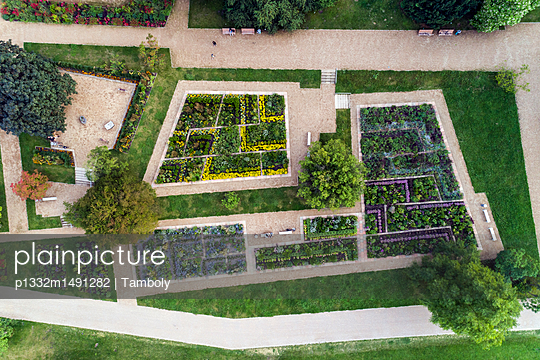 Aerial of a botanic garden - p1332m1491282 by Tamboly