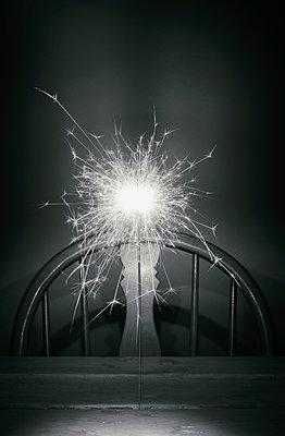 Sparkler table sad lonely nobody chair celebration - p609m1226556 by WRIGHT