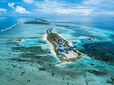 Aerial view of Maldives - p300m2016277 von Konstantin Trubavin