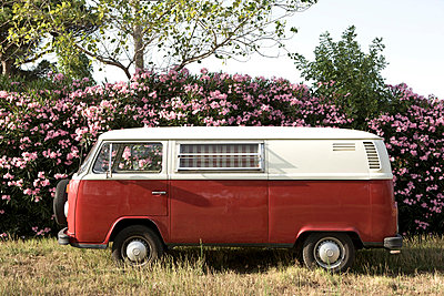 Red bus in France - p7730035 by Jochen Rolfes