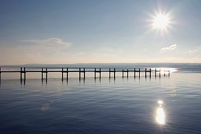 Germany, Bavaria, Ammersee, landing stage - p3005068f by Ulrich Matuschowitz