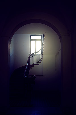 Hallway Staircase and Window  - p1248m2063480 by miguel sobreira