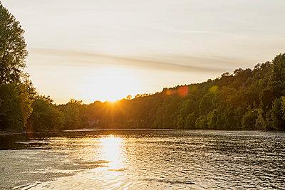 Sunset over DordogneRiver - p300m2293528 by Gaby Wojciech