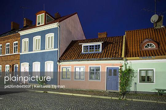 Row of houses against sky