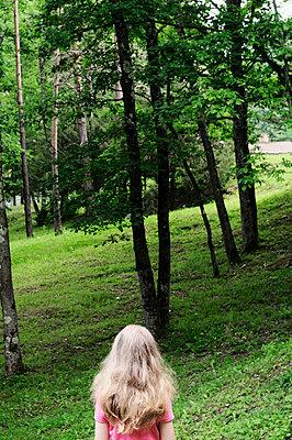 Girl with long white hair in the park - p1412m2044262 by Svetlana Shemeleva