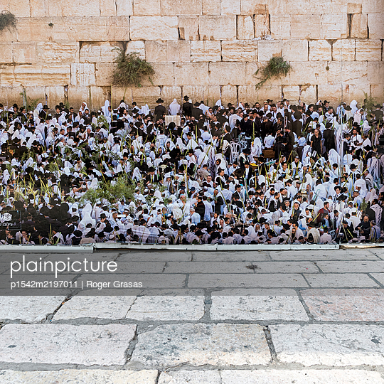 Israel, Jerusalem Klagemauer - p1542m2197011 von Roger Grasas