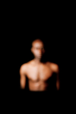 African man in studio - p4450989 by Marie Docher