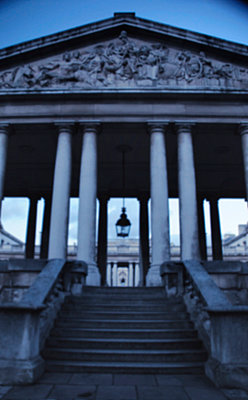 Steps up to Royal Naval College in Greenwich, London - p1072m829264 by Neville Mountford-Hoare